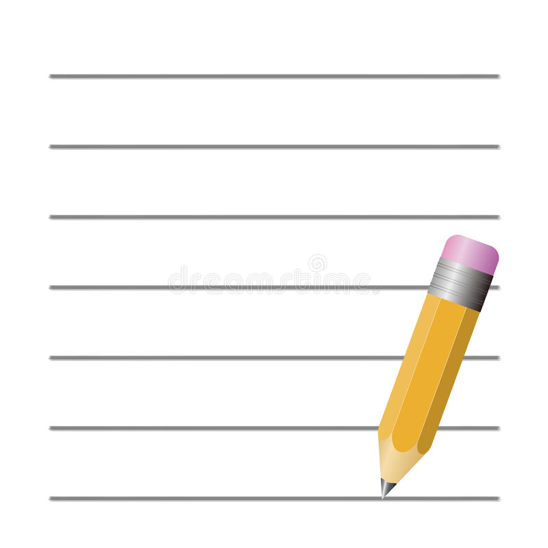 Pencil and Paper stock vector Illustration of background - 42355488 - blank sheet of paper with lines