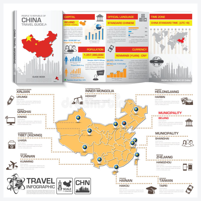 ... People U0027s Republic Of China Travel Guide Book Business Infogra   Guidebook  Template ...  Guidebook Template
