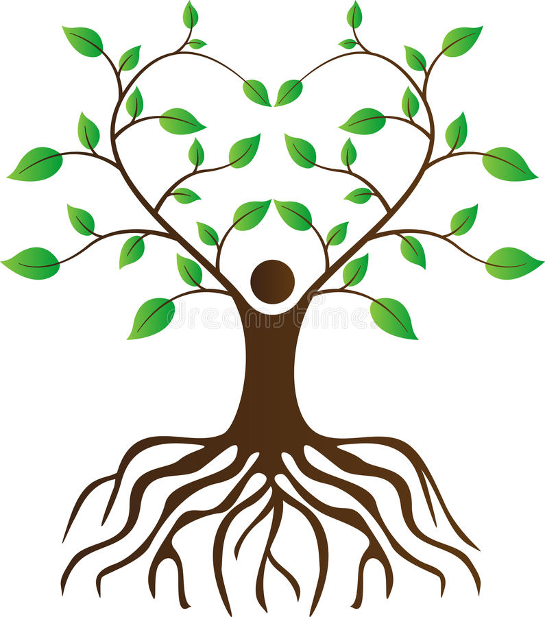 People Love Tree With Roots Stock Vector - Illustration of cover