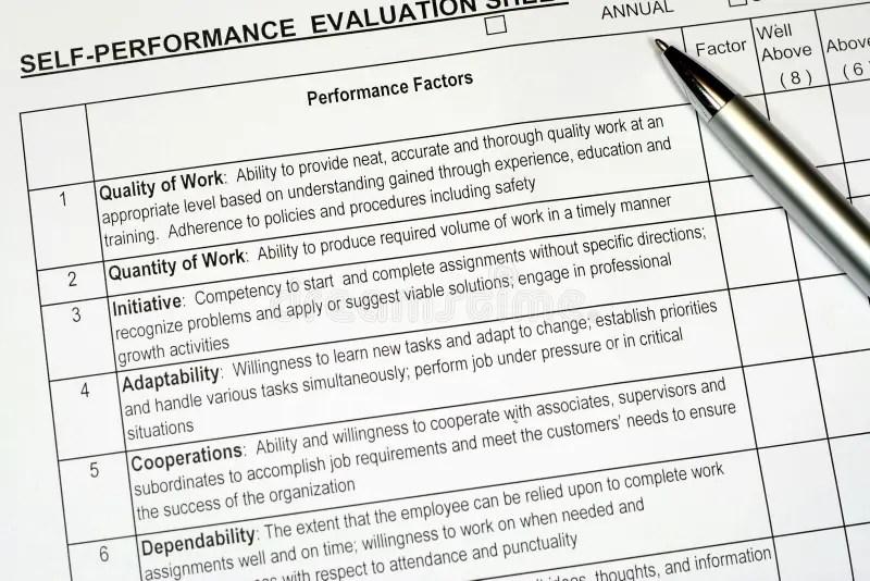 Performance Evaluation Report Stock Photo - Image of renewal, human - performance evaluation