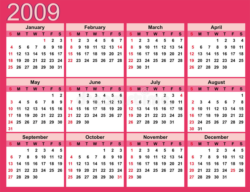 Year Calendar Scheduler Meetomatic The Worlds Simplest Meeting Scheduler Pink Calendar For 2009 Stock Photography Image 6333102