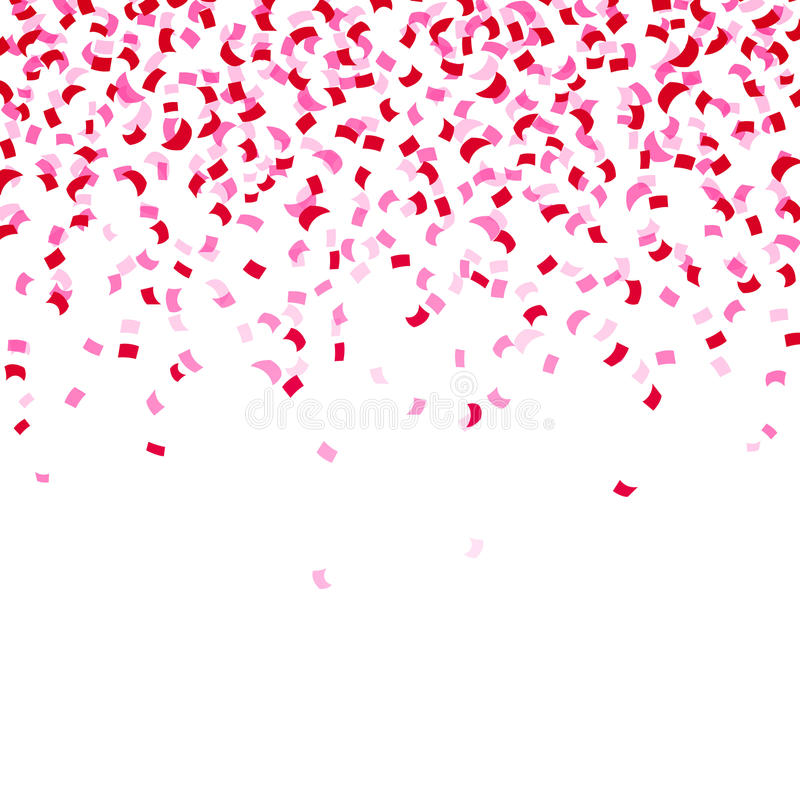 Falling Glitter Confetti Wallpapers Pink Confetti Stock Illustration Image 55301653
