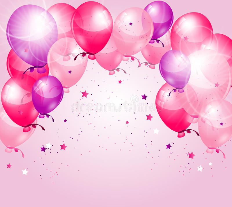 Pink Purple Birthday Background Stock Illustration - Illustration of - birthday backround