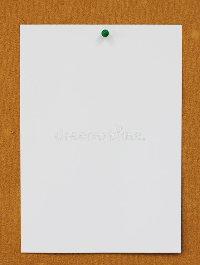 Pinned Paper With Cork Board Background Stock Photo - Image of - loose leaf paper background