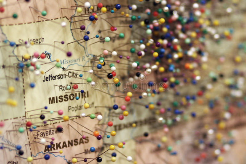 Pins on Map stock image Image of travel, united, hundreds - 40764093 - pins on a map