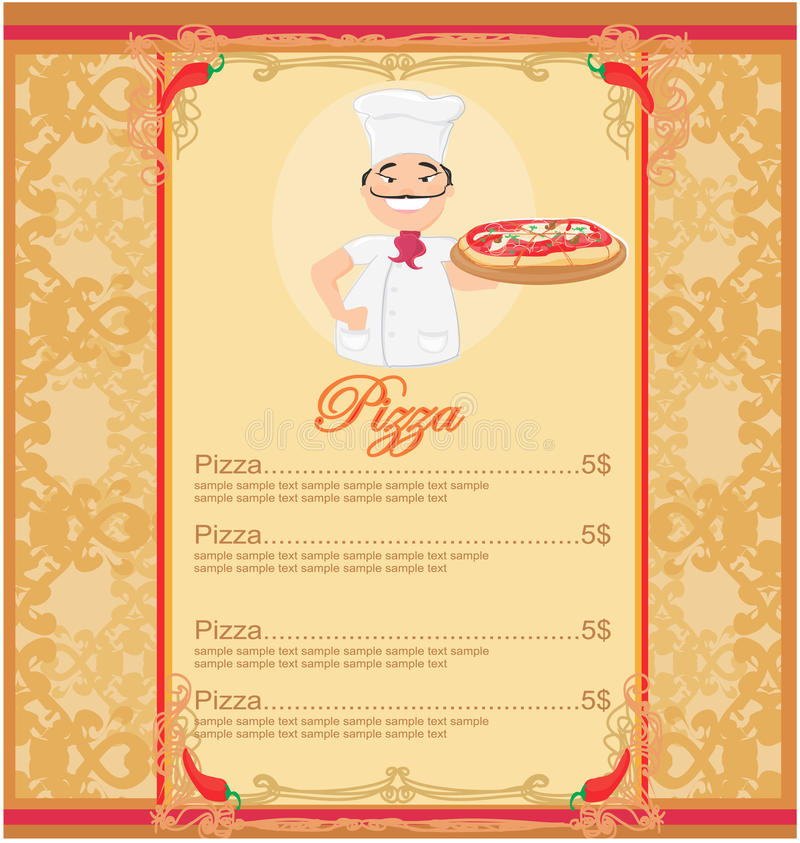 Pizza Menu Template stock vector Illustration of creative - 23622907 - Sample Pizza Menu Template