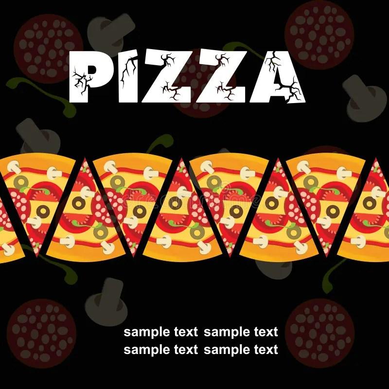 Pizza Menu Template, Vector Illustration Stock Vector - Illustration