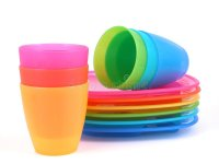 Plastic cups and plates stock image. Image of drinks ...