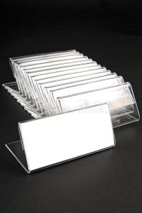 Plastic Holders For Price Tags Stock Photo - Image of ...
