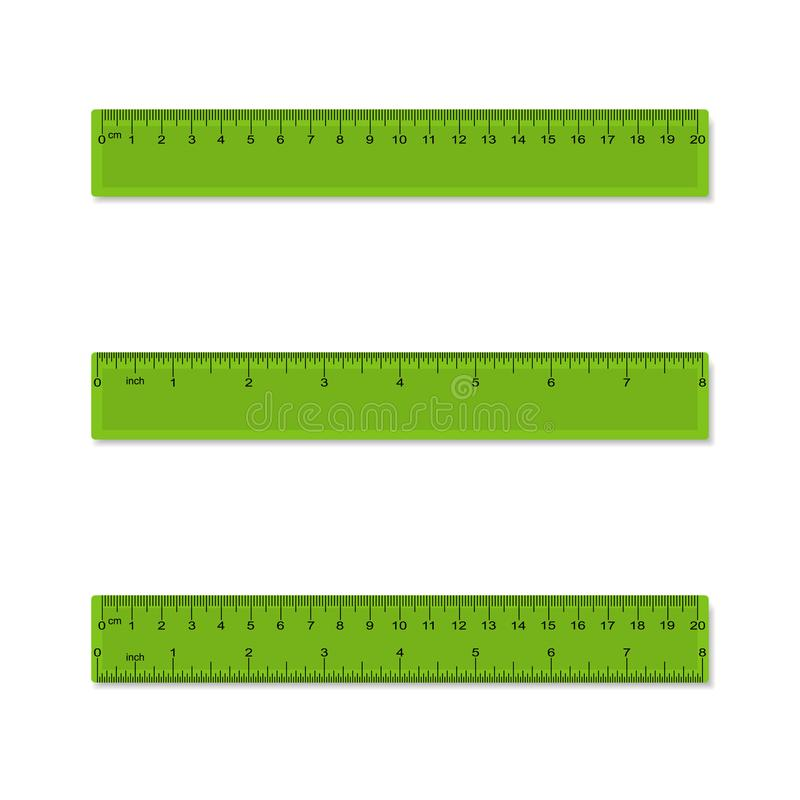 1 Duim In Mm Ruler Centimeter And Inches Scale Vector Plastic Stock