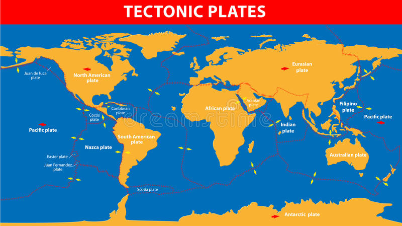 Plate tectonics stock vector Illustration of feature - 30353174