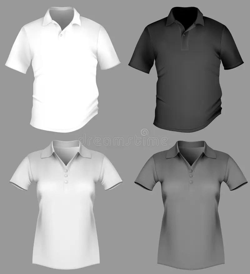 Polo Shirt Design Template (men And Women) Stock Vector