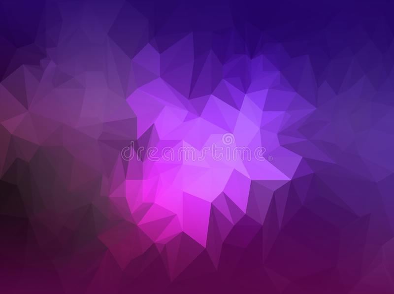 Polygonal Purple And Dark Blue Background - Low Poly Texture