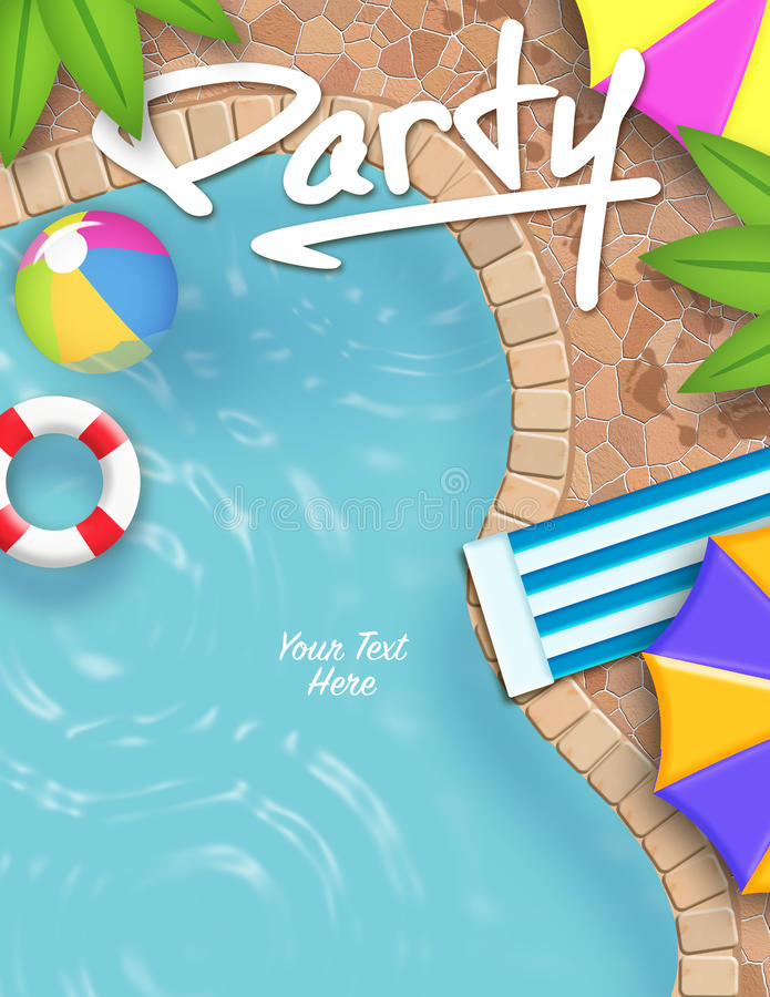Pool Party Invitation stock vector Illustration of text - 62332528
