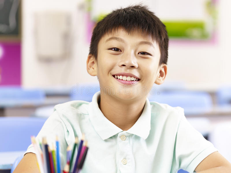 Portrait Of Asian Elementary School Student Stock Photo - Image of - student