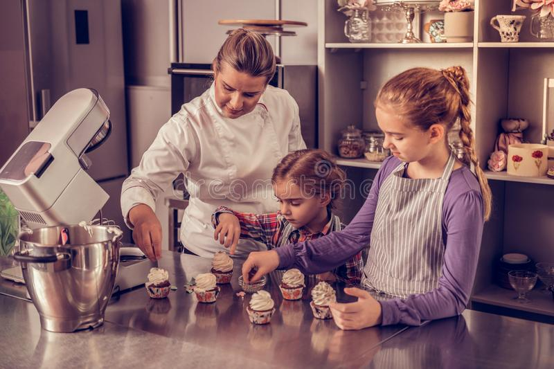 pastry chef chocolate meringue royalty free stock image