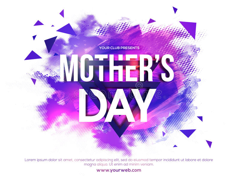 Poster, Banner Or Flyer For Mother\u0027s Day Party Stock Illustration