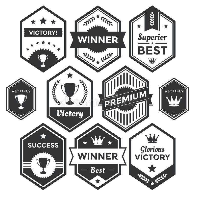 Premium Badge And Modern Label Collection Stock Illustration - label