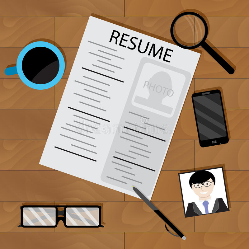 Preparing for interview stock vector Illustration of opportunity