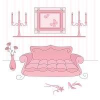 Princess Living Room Royalty Free Stock Image - Image ...