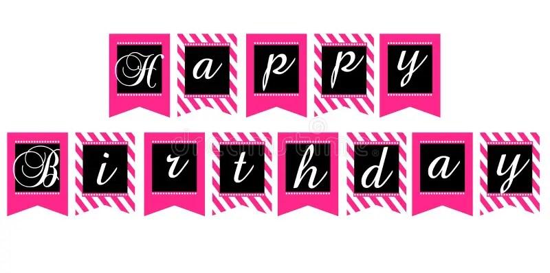happy birthday printable banner