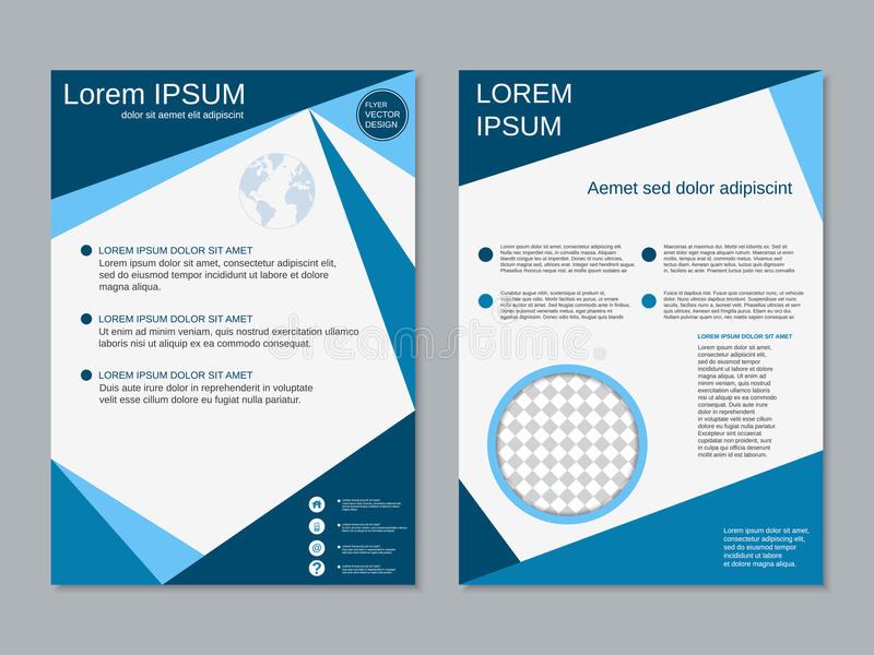 document template fold professional psd tri corporate template