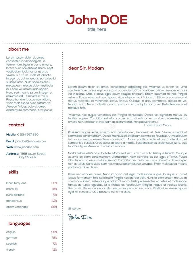 Progettazione Di Lettera Di Presentazione Semplice Per I Riassunti