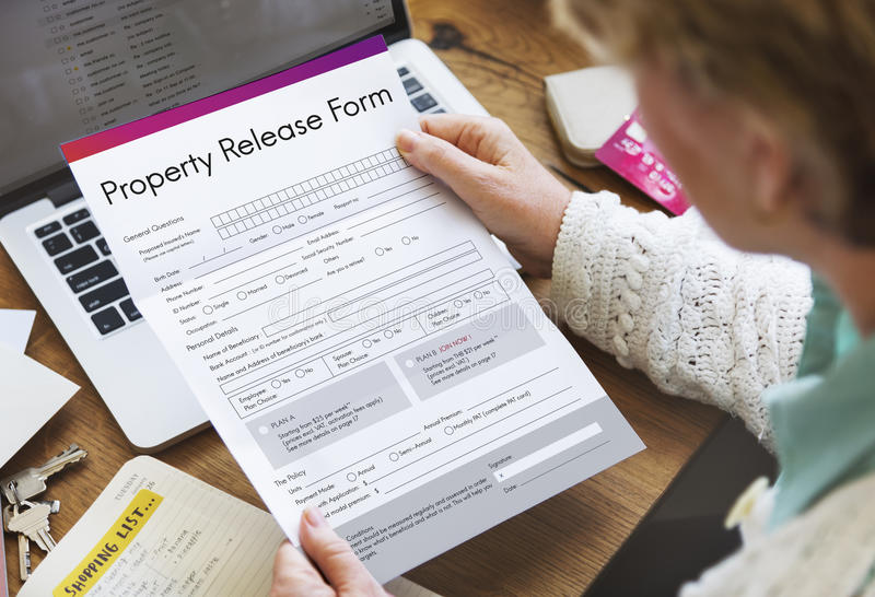 Property Release Claim Form Concept Stock Image - Image of house - property release form