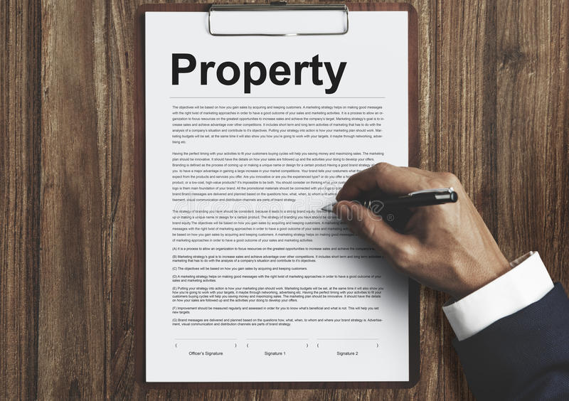 Property Release Form Assets Concept Stock Image - Image of assets - property release form