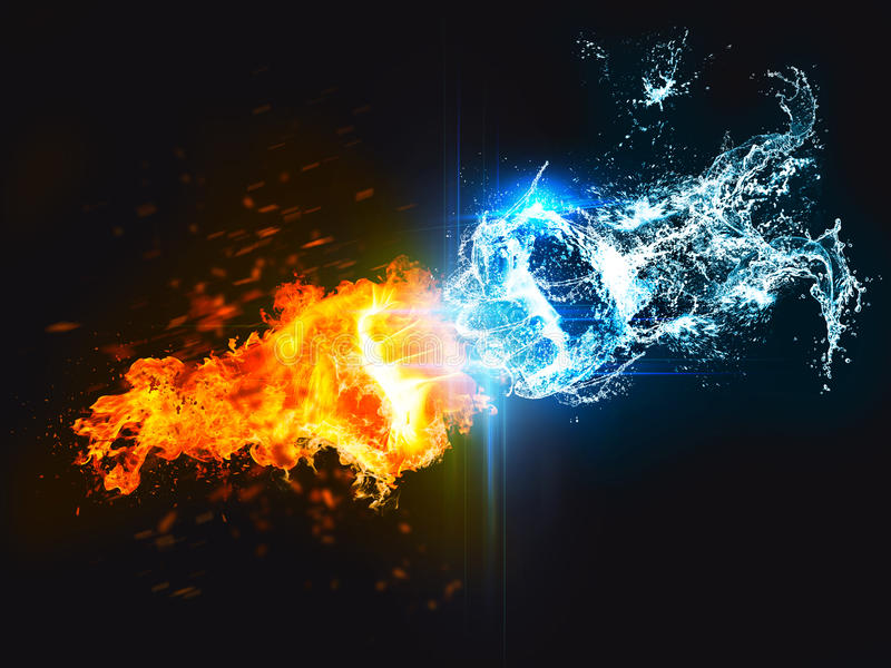Dope Car Wallpapers Punch Of Fire Against Water Stock Illustration