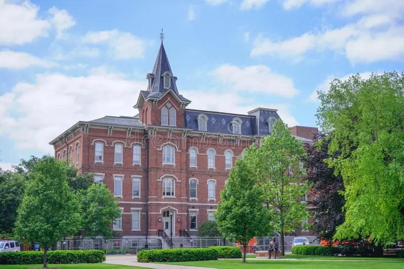 Purdue University Campus Building Stock Image - Image of hall