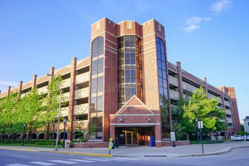 Purdue University Campus Parking Lot Editorial Image - Image of
