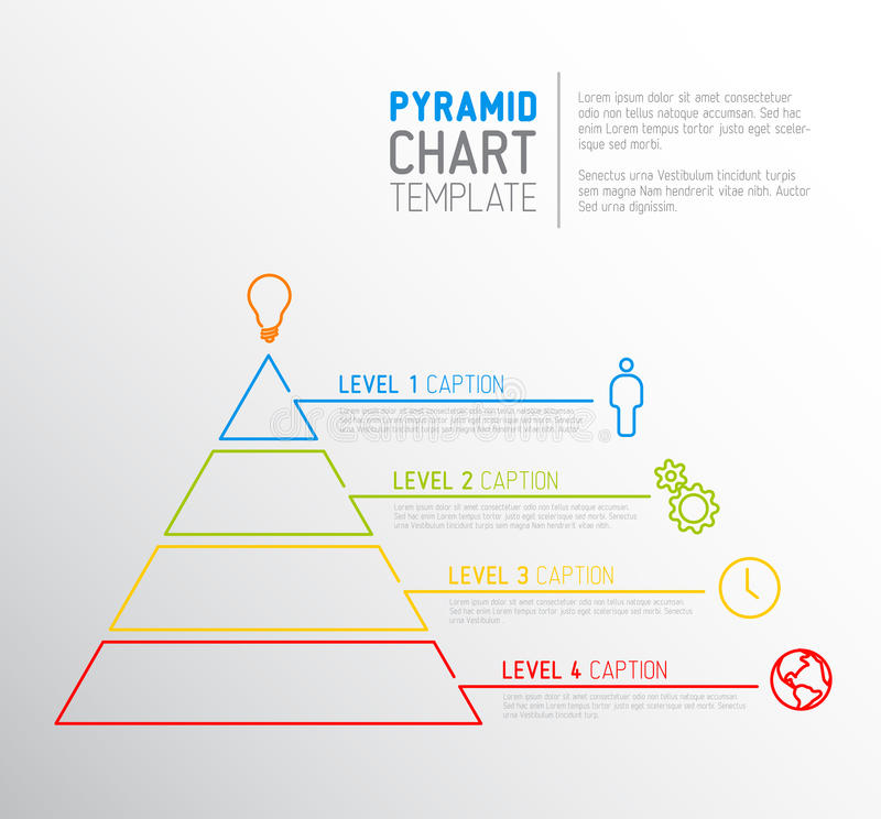 Pyramid Chart Diagram Template Stock Vector - Illustration of evel