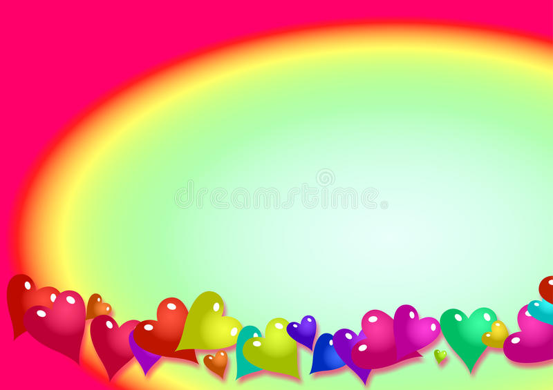 Rainbow Page Border Background Stock Illustration - Illustration of - rainbow page border