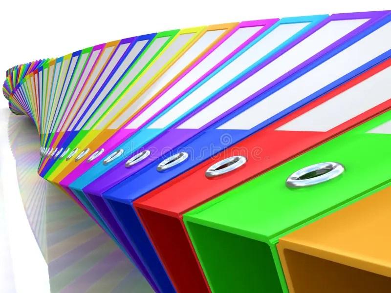 Rainbow office folders stock illustration Illustration of