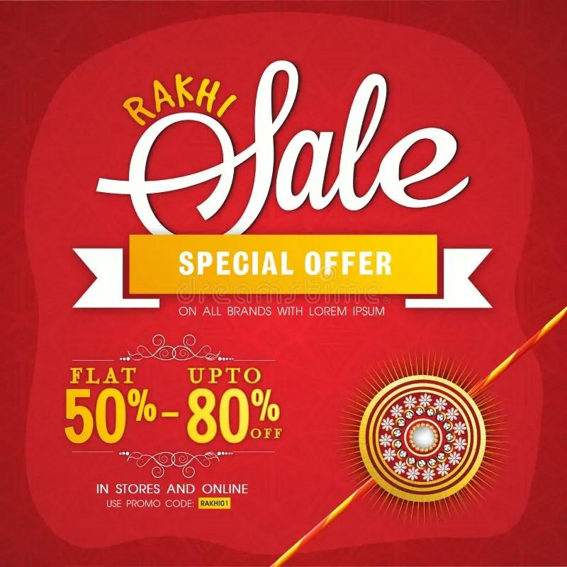 Rakhi Sale Poster, Banner Or Flyer Design Stock Illustration - sale poster design