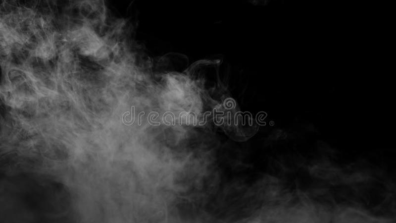 Random Steam Fog Blow From Up A Black Background Stock Footage