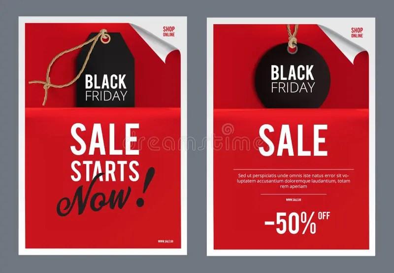 Black Friday Sales Template Stock Illustration - Illustration of