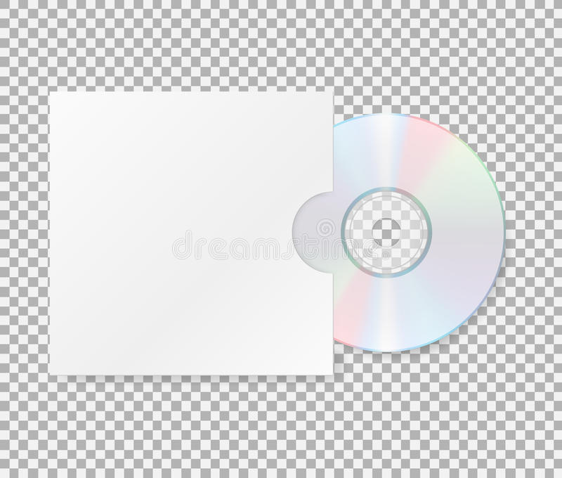 Realistic Cd With Cover Close Up Of A Cd Dvd DiscBlank Compact