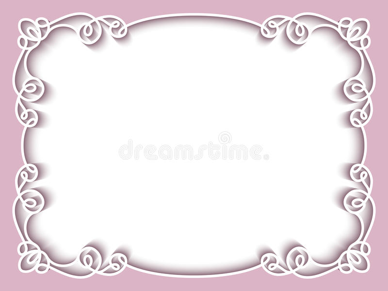 Rectangle Paper Frame, Greeting Card Template Stock Vector