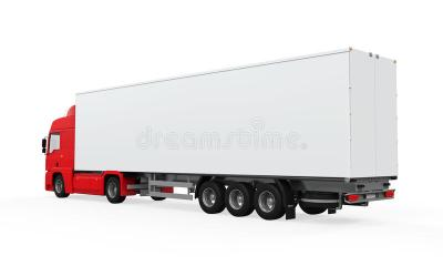 Red Cargo Delivery Truck stock illustration. Illustration of clear - 38505509