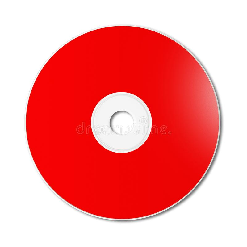 Red CD - DVD Mockup Template Isolated On White Stock Image - Image - office cd