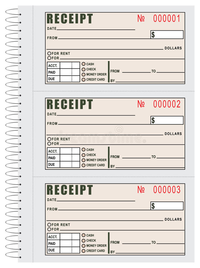 Rent Receipt Book Stock Vector - Image 51968922 - free receipt book