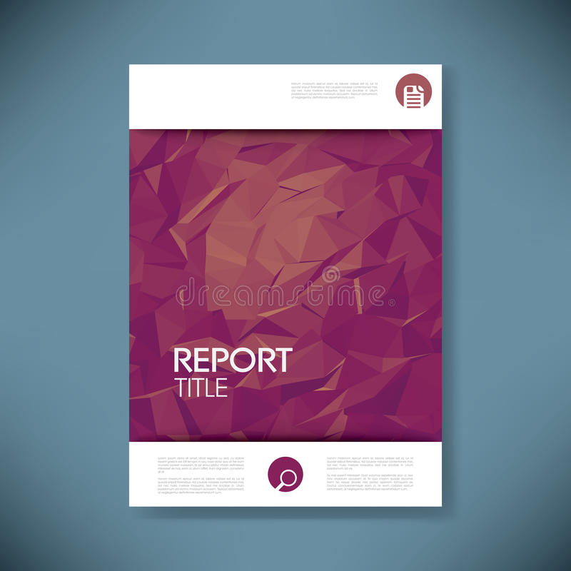 Report Cover Template With 3d Low Poly Vector Stock Vector