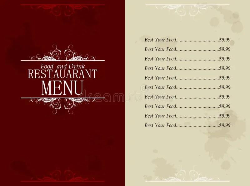 Restaurant Food And Drink Menu Stock Vector - Illustration of label - menu design template
