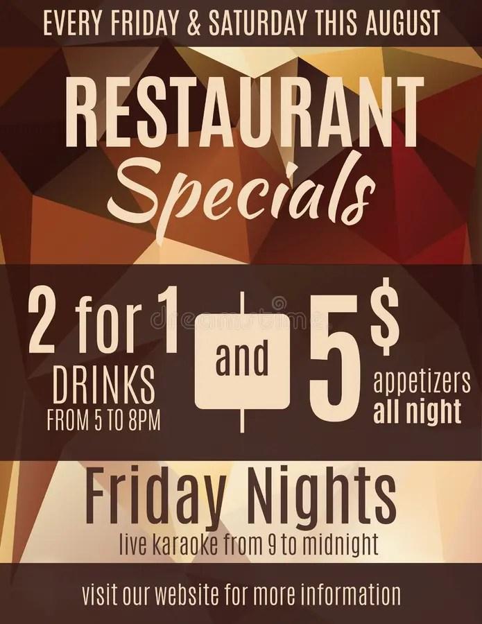 Restaurant Special Sale Flyer Template Stock Vector - Illustration - fun voucher template