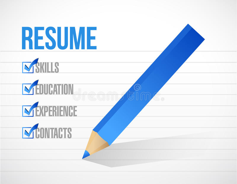 Resume Check Mark List Illustration Design Stock Illustration - resume check