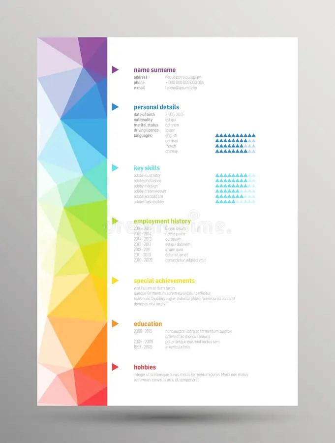 Resume - Curriculum vitae stock vector Illustration of publish