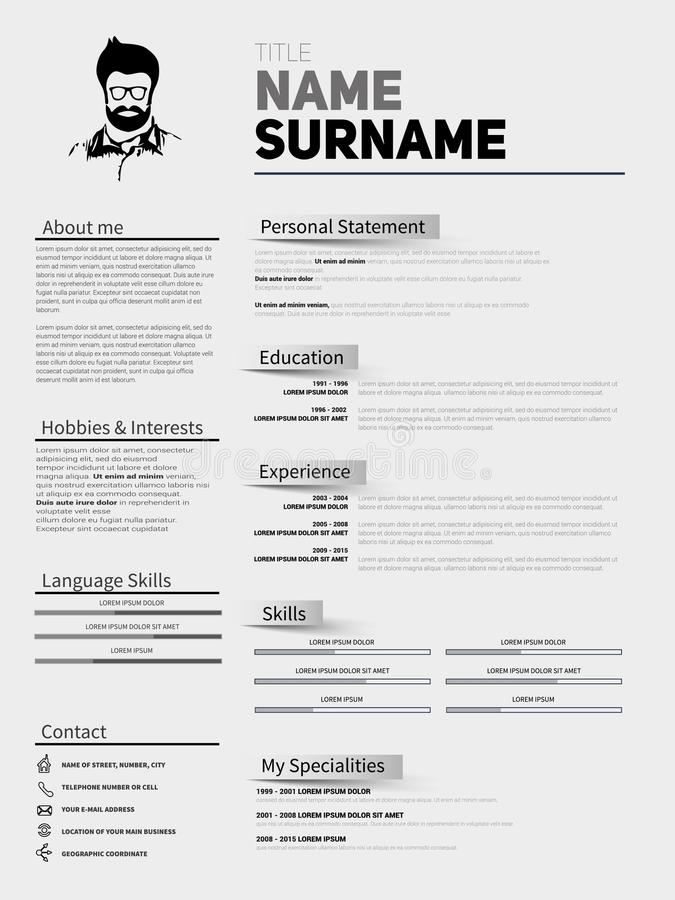 Resume Minimalist CV, Resume Template With Simple Design, Compan
