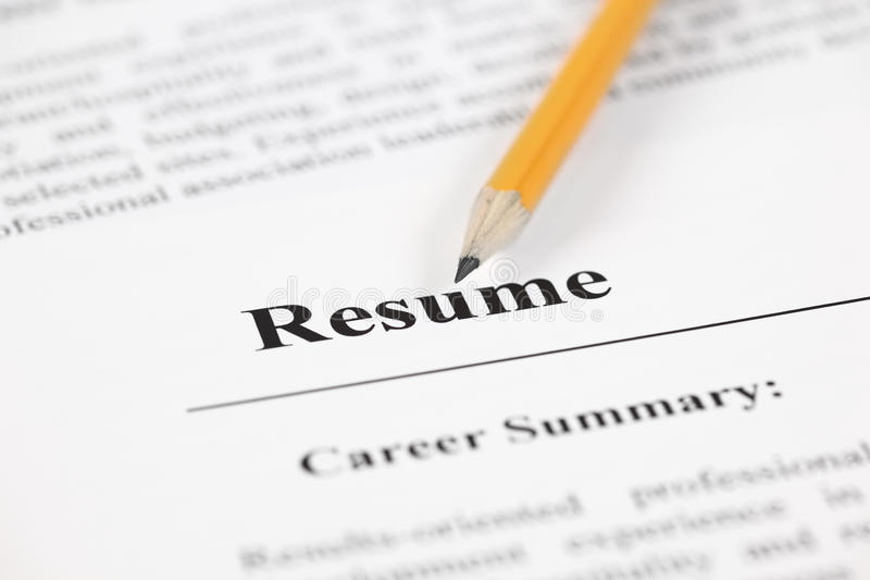 Resume stock photo Image of pensil, unemployment, word - 45350692 - stock resume